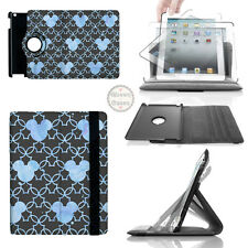 Mickey Mouse Watercolor Blue 360 Rotate Case - fits iPad Kindle Samsung Galaxy