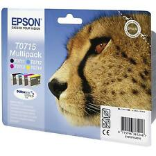 EPSON STYLUS MULTIPACK PRINTER INK CARTRIDGES C13T07154010 / T0715 - 1 FULL SET