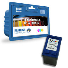 1 REMANUFACTURED COLOUR HP 57 HP57 C6657A INK CARTRIDGE HIGH CAPACITY