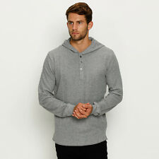 New Lucid Rival LS Hooded T-Shirt in Grey | Mens Mens Tees