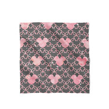 Mickey Mouse Watercolor Pink Satin Style Scarf - Bandana in 3 sizes