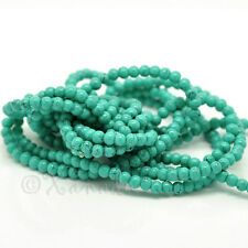 Turquoise 4mm Glass Beads - Wholesale Round Beads G8244 - 200, 500 Or 1000PCs