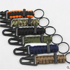 Firefighter Paracord Survival Lanyard Keychain With HK Hook Tactical Keyfob Tool