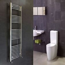 500 mm Wide 1800 mm High Curved Chrome Heated Towel Rail Radiator Electric & Gas