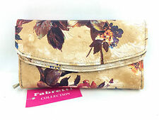 OFFICIAL NEW FABRETTI LADIES WOMENS GIRLS FLORAL LARGE PURSE CREDIT CARDS NOTES
