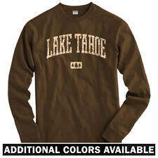 Lake Tahoe Long Sleeve T-shirt - LS Men S-4X - Gift California Nevada Travel Fun