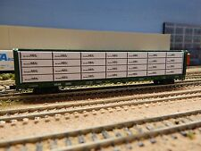 """N SCALE: """"Timber West"""" wrapped Lumber load for Red Caboose 73' Centerbeam"""