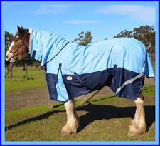 LOVE MY HORSE 1200D 7'0 - 7'6 Clydy Combo Rainsheet Cotton Lining Sky / Navy