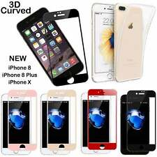Apple iPhone 7 Plus 6s TPU Case & Full Curved 3D Tempered Glass Screen Protector
