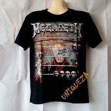 MEGADETH Abacus T-shirt Heavy Metal Rock Band Ghost Skull Tee Front & Back New