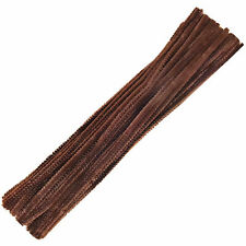 "Brown Chenille Craft Stems Pipe Cleaners 30cm 12""  Brown pipe cleaner  UK Seller"