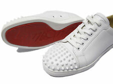 Christian Louboutin Louis Junior Spikes Men's Flats in White