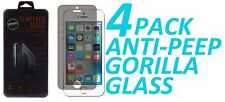 4x Anti Spy Privacy Tempered Glass Screen Protector For Apple iPhone 5 5S 5C SE