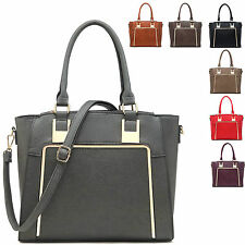 Ladies Stylish Faux Leather Handbag Evening Shoulder Bag Grab Bag Tote MA34429