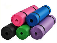 10MM Thick Non Slip Yoga Mat Exercise Fitness Physio Pilates Gym Cushion LB ws