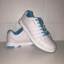 Brunswick Women's Bowling Shoes! Satin - L-016 - White/Aqua! FREE SHIPPING!