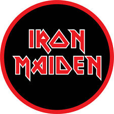 Iron Maiden Men's Stacked Logo Embroidered Patch Black