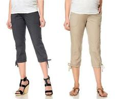Oh Baby Motherhood Maternity BEIGE OLIVE GRAY CAPRI Pants Size M L XL over belly