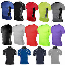Mens Compression Shirts Sports Bady Armour Base Layer Tight T-shirt Running Top