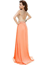 Sexy Women Dress Sheer Top Stunning Back Glamours Lace Satin Maxi Party Dress