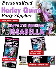 Personalised Harley Quinn Birthday Party Banner Decorations Supplies