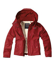 Nwt Hollister By Abercrombie Women's All Weather Jacket Outerwear Red