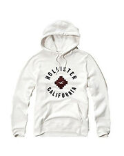 New Hollister By Abercrombie & Fitch Men's Pullover Hoodie White 2016 Nwt