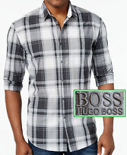 NWT Hugo Boss Green Label By Hugo Boss Slim Fit Plaid Long-Sleeve Shirt Size L