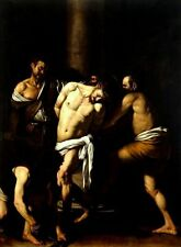 Flagellation of Christ by Caravaggio (classic Christian Mannerist Art Print)