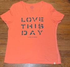 Life is Good LOVE THIS DAY Fitted Crew Neck T-Shirt  Authentic Tee