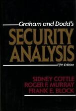 Security Analysis by Graham and Dodd 1988 Fundamental Stock Market Analysis