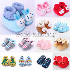 Baby Toddler Boys Girls Cute Soft Sole Crib Shoes Walking Prewalkers Boots Flats