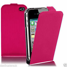 New Apple iPhone 5 5S Pink Leather Flip Case With Screen Protector