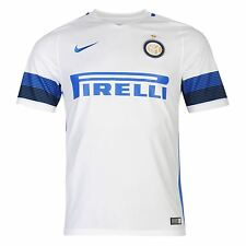 Nike Inter Milan Away Jersey 2016 2017 Mens White/Blue Football Soccer Top Shirt