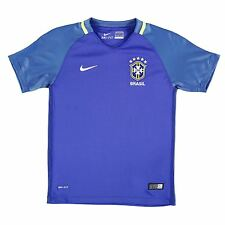 Nike Brazil Away Jersey 2016 Juniors Royal Football Soccer Top Shirt