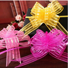 Prevalent 50mm Organza Ribbon Pull Bows Various Colours Wedding/Party/Giftwrap
