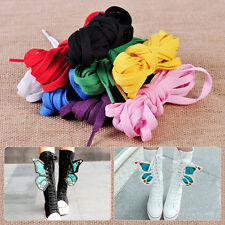 1 Pair Sale Casual Canvas Shoes Flat Boots High Sneakers Long Shoelaces String