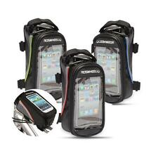"Bike Cycling Frame Pannier Front Tube 4.8/5.5"" Cell Phone Case Bag Pouch"