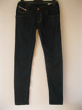 Women's Diesel MATIC Skinny Leg Super Low Rise Dark Blue Jeans W28 L34