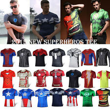 Avenger Superhero Marvel Comics Costume Cycling Mens T-Shirt Bicycle Jersey Top