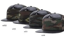 New Camouflage Stitching Leather Hiphop Snapback Bboy Baseball Dancer Hat/Cap