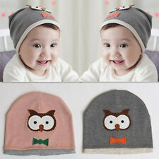 Hot New Cotton knit Beanie Hat Cap Owl Soft Girl 1pcs Cute Kids Baby Boy