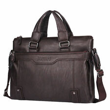 "Men's Real Leather Business Briefcase Tote Handbag 14"" Laptop bag Messenger Bag"