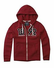Nwt Abercrombie & Fitch By Hollister Men's Graphic Logo Hoodie Red 2016 New
