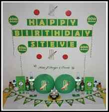 ** CRICKET Personalised BIRTHDAY Kids Mens Adults Party Decorations **