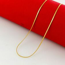 Luxurious Snake Bone Chain Xmas Gift 1-6mm 18K Gold Filled Silver Plate Necklace