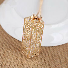 Long chain Hollow clover Statement  Crystal  Necklace  New Square  Pendant  Hot