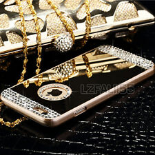 Luxury Mirror Diamond Bling Crystal Hard Back Case Cover For Apple iPhone Model