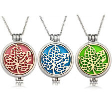 Maple Leaf Essential Oil Diffuser Locket Necklace Aromatherapy Perfume Pendents