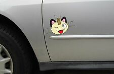 Meowth Sticker - Pokemon Meowth Vinyl Decal - Var. Sizes and Colors Style 5